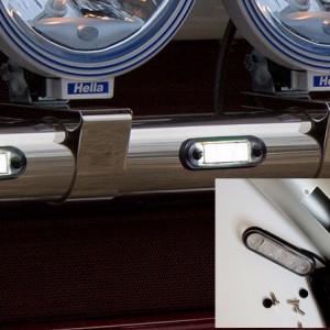 LED5/2 - 7x poziční LED instalovány v rámu Kelsa