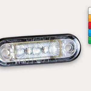 Obrysové LED světlo červené se 2 LED moduly