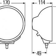 Reflektor Luminator Chrom Compact - MODRÝ 1F3 009 094 - 171