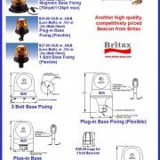 Maják BRITAX rotační na magnet typ B24.00 - 24V
