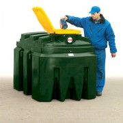 Dvouplášťová nádrž na použitý olej - PLN K1000