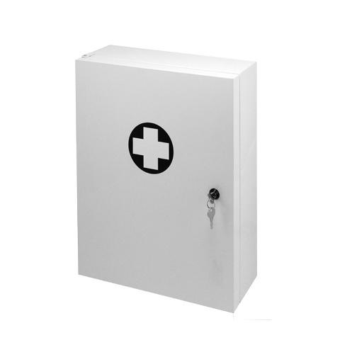 Nástěnná uzamykatelná kovová lékárnička s náplní CHEMIE - ZM 1301