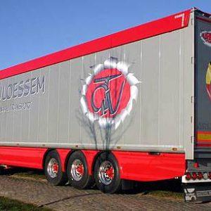 Panely / spoilery Vepro (boční) pro návěsy nákladních automobilů, valníky a dodávkové vozy