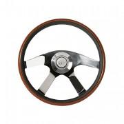 CRUISER - mahagonovo-kožený volant, průměr 457mm