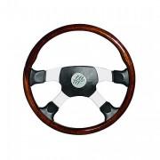 OVERLAND 4 - mahagonovo-kožený volant, průměr 450mm