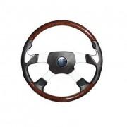 PATHFINDER 4 - mahagonovo-kožený volant, průměr 450 mm