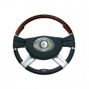 GALAXY - mahagonovo-polyuretanový volant, průměr 457mm