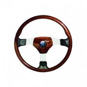 OVERLAND 3 - mahagonový volant s koženými doplňky, průměr 450mm