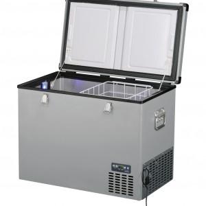 Lednice TB130 Steel - kompresorová autochladnička od Indel B (130 litrů) 12/24/230V