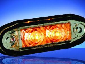 Obrysové LED světlo oranžové se 2 LED moduly