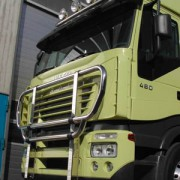 Cattle guard, standard fi 60 mm, polished IVECO Stralis(AS)