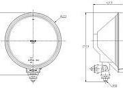 Reflektor ENATruck typ SIM Bílý + poziční LED