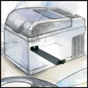 Lednička s mrazákem C41 D 12/24/230V