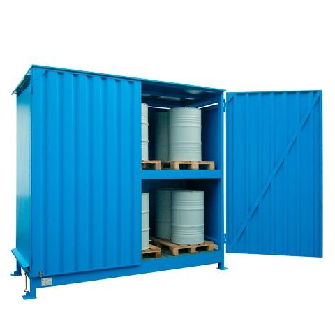 Venkovní sklad s rošty pro skladování sudů - C22-5014-C