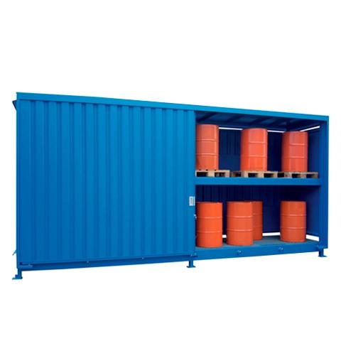 Venkovní sklad s rošty pro skladování sudů - C22-5114-C