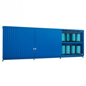 Venkovní sklad s rošty pro skladování sudů - C22-5252-C