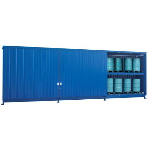 Venkovní sklad s vysokou kapacitou pro skladování sudů - C22-5254-C