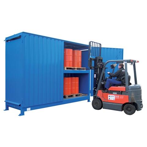 Venkovní sklad s vysokou kapacitou pro skladování sudů - C22-5304-C