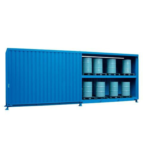 Venkovní sklad s vysokou kapacitou pro skladování sudů - C22-5324-C