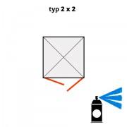 Dodatečný nátěr pro ekosklady 2 × 2 - modrá (RAL 5015) - H61-2202-A
