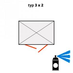 Dodatečný nátěr pro ekosklady 3 × 2 - modrá (RAL 5015) - H61-2203-A