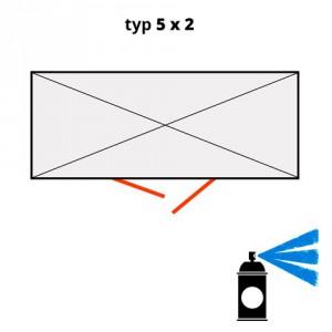 Dodatečný nátěr pro ekosklady 5 × 2 - modrá (RAL 5015) - H61-2205-A