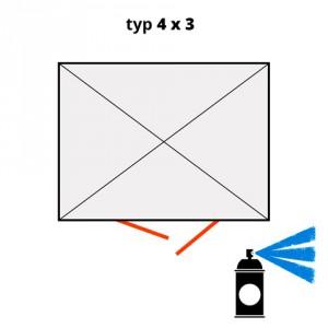Dodatečný nátěr pro ekosklady 4 × 3 - modrá (RAL 5015) - H61-2208-A