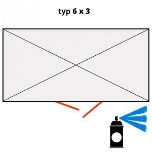 Dodatečný nátěr pro ekosklady 6 × 3 - modrá (RAL 5015) - H61-2210-A