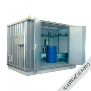 Ekosklad s termoizolací a topením, 2 × 1 - H63-1200-A