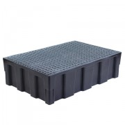 Záchytná paleta pro 2 sudy - pozinkovaný rošt - PLN 3001