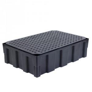 Záchytná paleta pro 2 sudy - polyetylenový rošt - PLN 3002