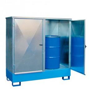Záchytná krytá vana pro dva 200 l sudy - P21-2481-A