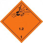 Značka Výbušné látky a předměty podtř. 1.2 - folie samolepící