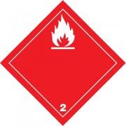 Značka Hořlavé plyny TŘ. 2.1 - folie samolepicí