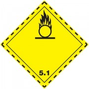 Značka Látky podporující hoření TŘ. 5.1 - folie samolepící