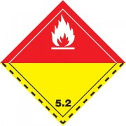 Značka Organické peroxidy TŘ. 5.2 - folie samolepící