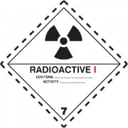 Značka Radioaktivní látky, značka 7A - folie samolepící