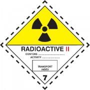 Značka Radioaktivní látky, značka 7B - folie samolepící