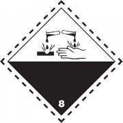 Značka Žíravé látky TŘ. 8 - folie samolepící