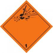 Značka Výbušné látky a předměty - hliník