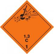 Značka Výbušné látky a předměty podtř. 1.3 - hliník