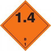 Značka Výbušné látky a předměty podtř. 1.4 - hliník
