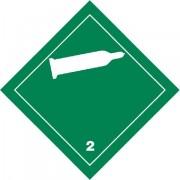 Značka Nehořlavé, netoxické plyny TŘ. 2.2 - hliník
