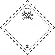 Značka Toxické plyny TŘ. 2.3 - hliník