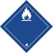 Značka Látky-ve styku s vodou vyvíjejí hořl.plyny - hliník