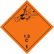 Značka Výbušné látky a předměty podtř. 1.3 - magnetická folie