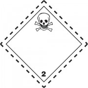 Značka Toxické plyny TŘ. 2.3 - magnetická folie