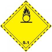 Značka Látky podporující hoření TŘ. 5.1 - magnetická folie