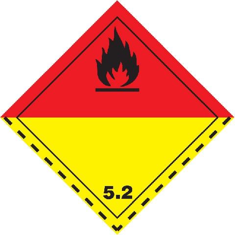 Značka Organické peroxidy TŘ. 5.2 - magnetická folie