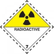 Značka Radioaktivní látky, značka 7D - magnetická folie